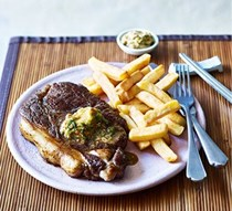 Steak with soy-ginger butter
