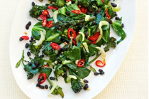 Stir-fried greens with fermented black beans