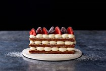 Strawberries and cream mille feuille