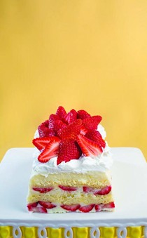 Strawberry-lemon icebox cake