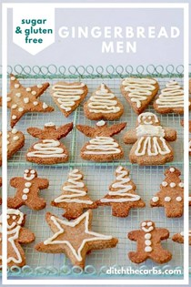 Sugar & gluten free gingerbread men