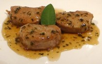 Sweet and sour medallions of pork (Scaloppe di maiale in agrodolce)