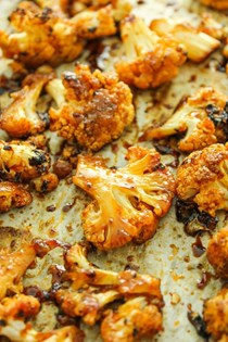 Sweet and spicy baked cauliflower