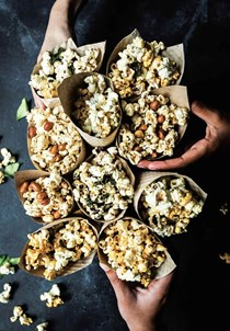 Sweet and spicy chili peanut popcorn