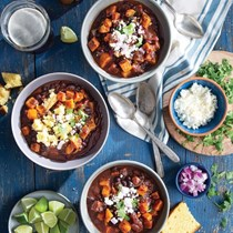 Sweet potato-black bean chili