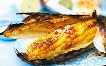 Sweetcorn recipes: barbecued or griddled sweetcorn with lime and coriander butter