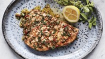Swordfish with Sicilian oregano-caper sauce