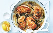 Tarragon and lemon roasted chicken