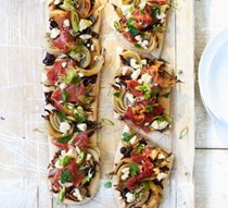 Tear-and-share feta flatbreads