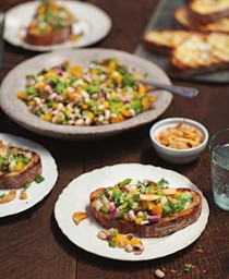 Texas caviar on grilled rustic bread