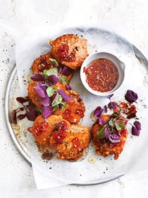 Thai fish cakes with chilli dipping sauce