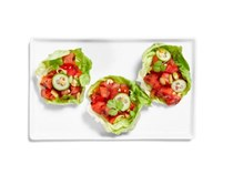 Thai grilled watermelon lettuce cups