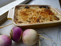 The Art of Eating's turnip gratin (Cook the Book)