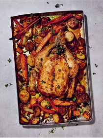 The easiest roast chicken dinner