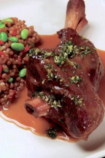 The icon: braised lamb shanks with mint gremolata