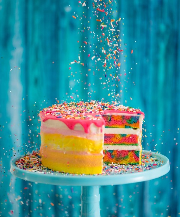Tremendous The Tie Dye Cake Recipe Eat Your Books Personalised Birthday Cards Paralily Jamesorg