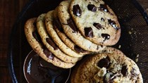Thin, crisp choc-chip biscuits