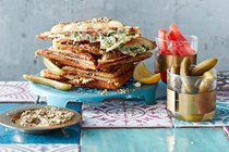 Three-cheese & spinach jaffles
