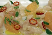 Tilapia and red grapefruit ceviche