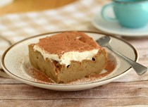 Tiramisu bread pudding