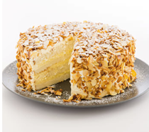 Toasted almond cake