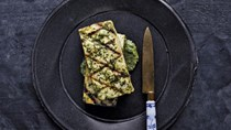 Tofu with ginger-cilantro sauce