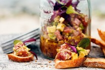 Tuna tartare with yuzu dressing