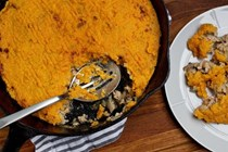 Turkey and sweet potato skillet pie