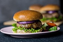 Turkey burgers with feta and dill