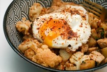 Turkey cauliflower hash with shichimi togarashi