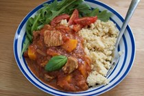 Turkey thigh tagine