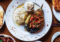 Turkish stuffed eggplants