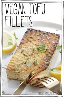 Vegan tofu fillets: vegan fish)