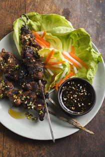 Vietnamese grilled lemon grass pork (Thit nuong)