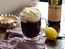 Wake me up before you go-go (Fernet-spiked Irish coffee with lemon cream)