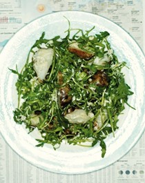 Warm Jerusalem artichoke, pecorino, & rocket salad