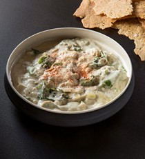 Warm kale and artichoke dip