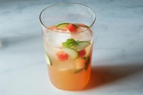 Watermelon, mint & cider vinegar tonic [Louisa Shafia]