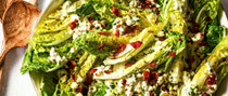 Wedge salad with blue cheese and chive dressing