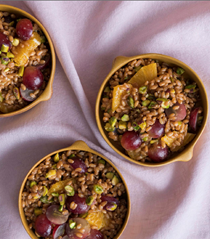 Wheat berry and citrus breakfast salad
