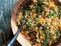 Wheat berry salad with Tuscan kale and butternut squash [Stewart Dietz]