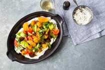 Whipped herb ricotta with summer tomatoes