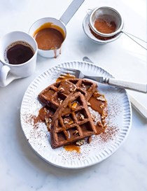 Whiskey and rye waffles