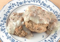 Whole-wheat drop biscuits