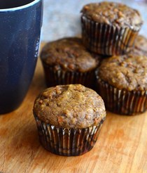 Whole wheat harvest carrot muffins