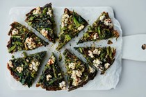 Wild garlic, nettle and asparagus frittata with ricotta