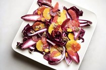 Winter citrus and red chicories salad