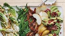 Winter-fruit Cobb salad with lemon-poppyseed dressing