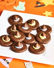 Witches' hats Halloween cookies