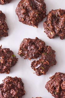 Zucchini chocolate breakfast cookies